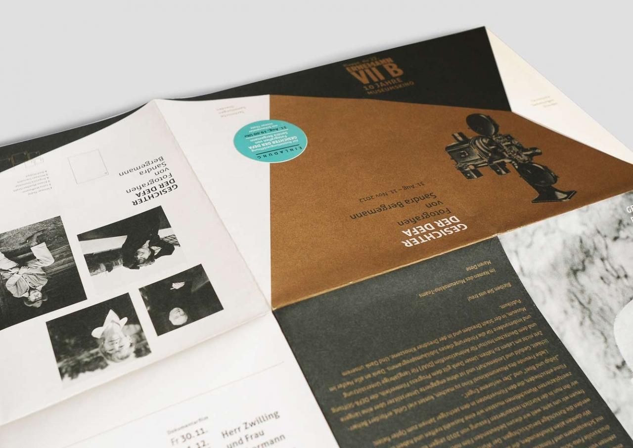 Svenja Limke <strong>Technische Sammlungen Dresden</strong></br>Flyer Ausstellung – Gesichter der DEFA
