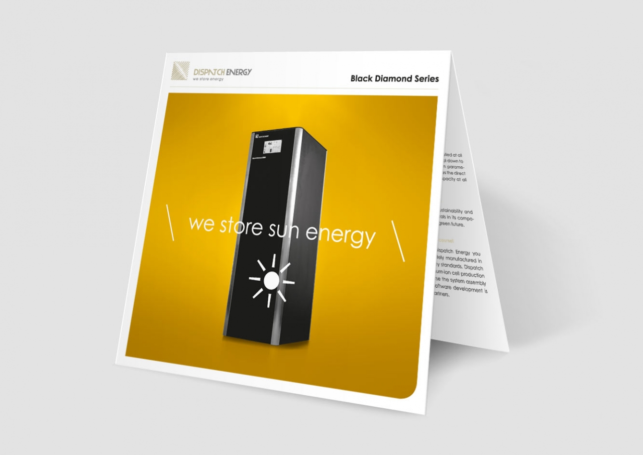 Svenja Limke <strong>Dispatch Energy</strong> –</br>Messeflyer