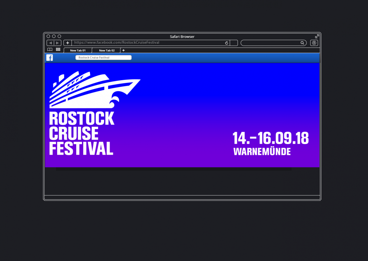 Svenja Limke <strong>Rostock Cruise Festival 2018</strong></br>Coporate Identity/Logo, Visual Concept