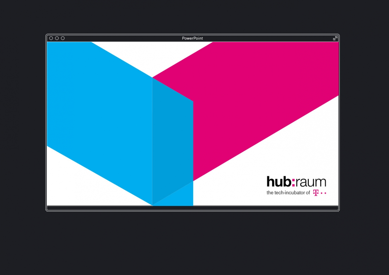 Svenja Limke <strong>hubraum – tech incubator by Deutsche Telekom</strong></br>Coporate Identity/CD – Visual Concept